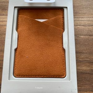 Heyday smartphone wallet pocket faux leather tan